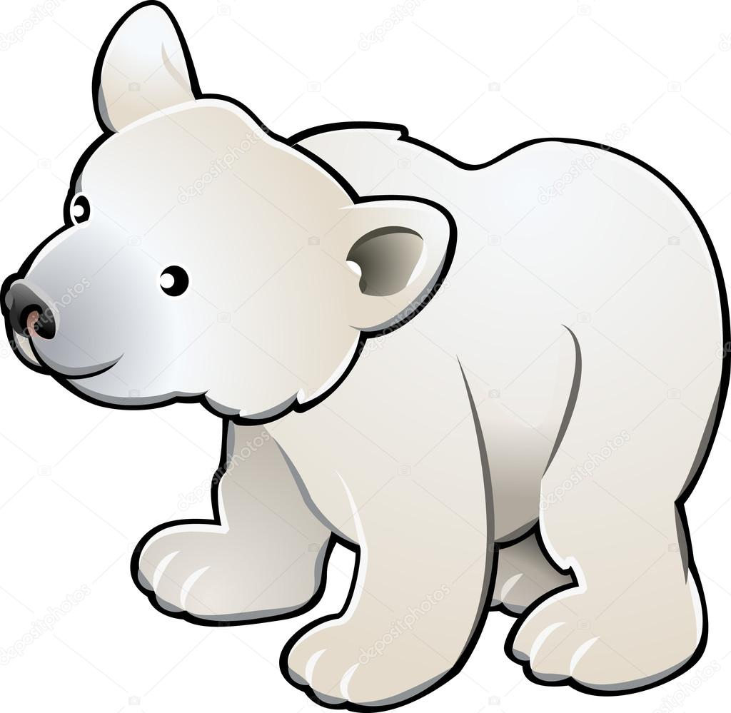 1024x999 Cute Polar Bear Vector Illustration Stock Vector Krisdog