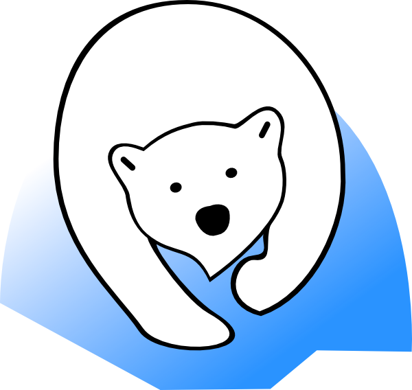 600x568 Polar Bear Cartoon Clipart