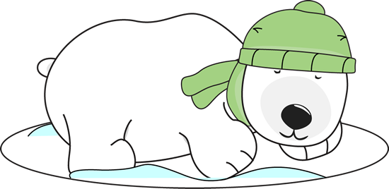 550x268 Polar Bear Sleeping In The Snow Clip Art