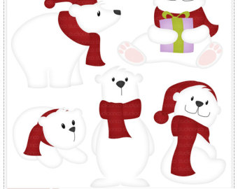 340x270 Polar Bear Clipart Etsy