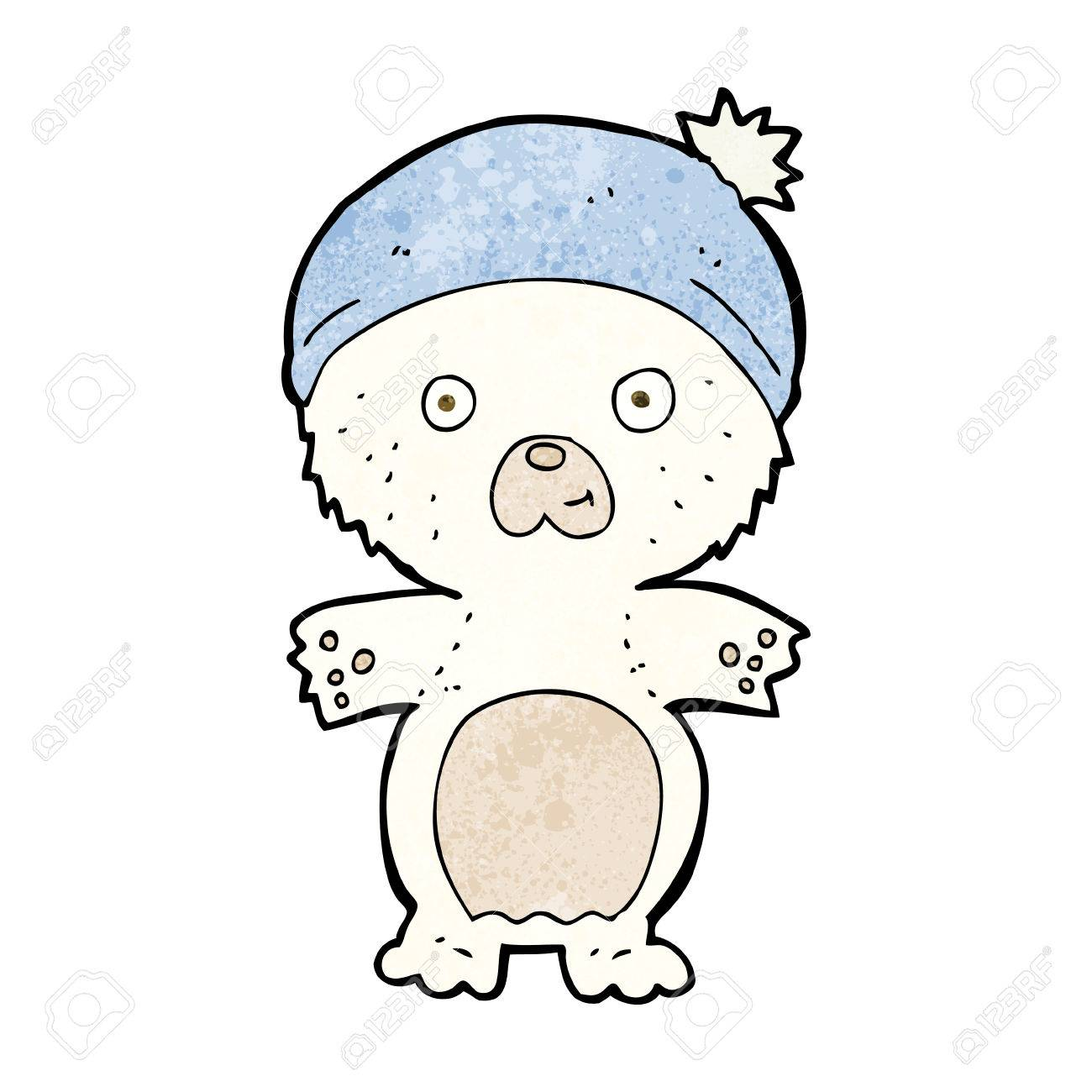 1300x1300 Cartoon Cute Polar Bear In Hat Royalty Free Cliparts, Vectors,