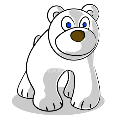 380x380 Cute Cartoon Polar Bear