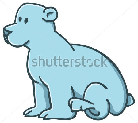 450x403 Cute Polar Bear Clipart