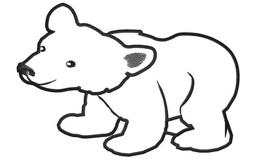 500x319 Polar Bear Silhouette Clip Art