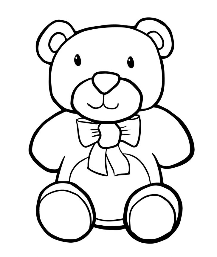 728x860 Adult ~ Cute Teddy Bear Coloring Pages Clip Art Black And White