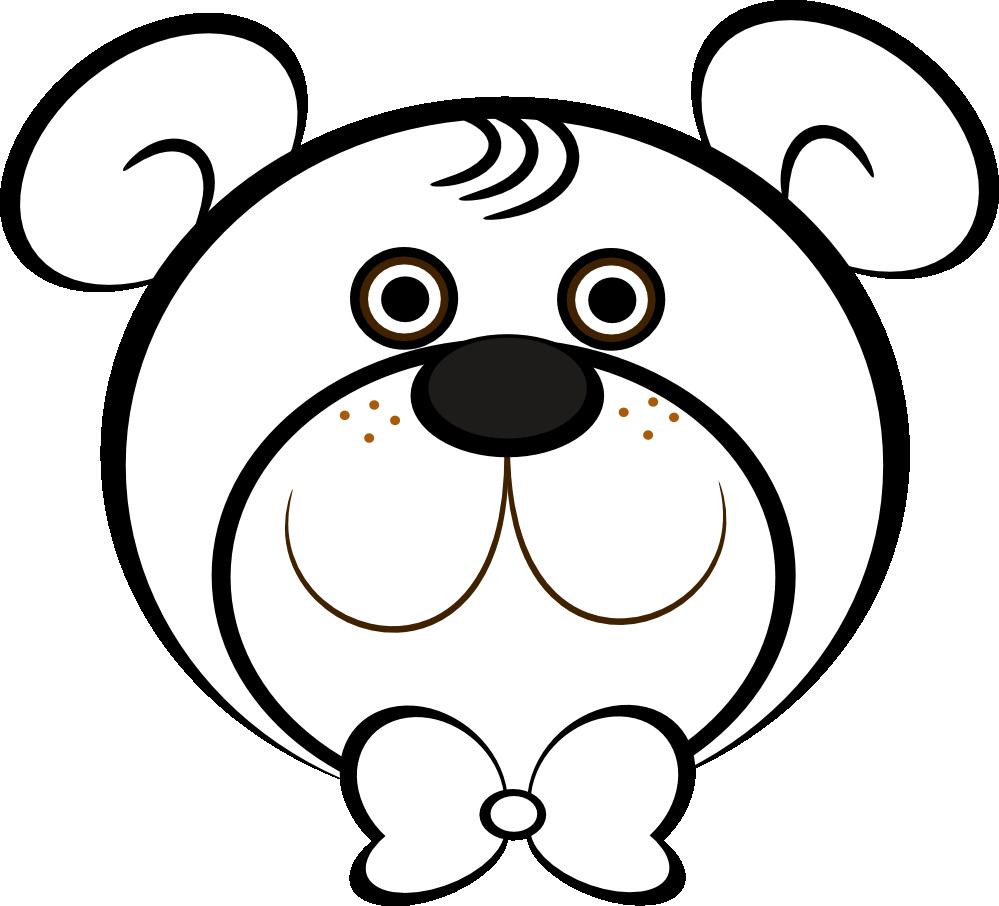 999x906 Bear Black And White Polar Bear Clip Art Black And White Free