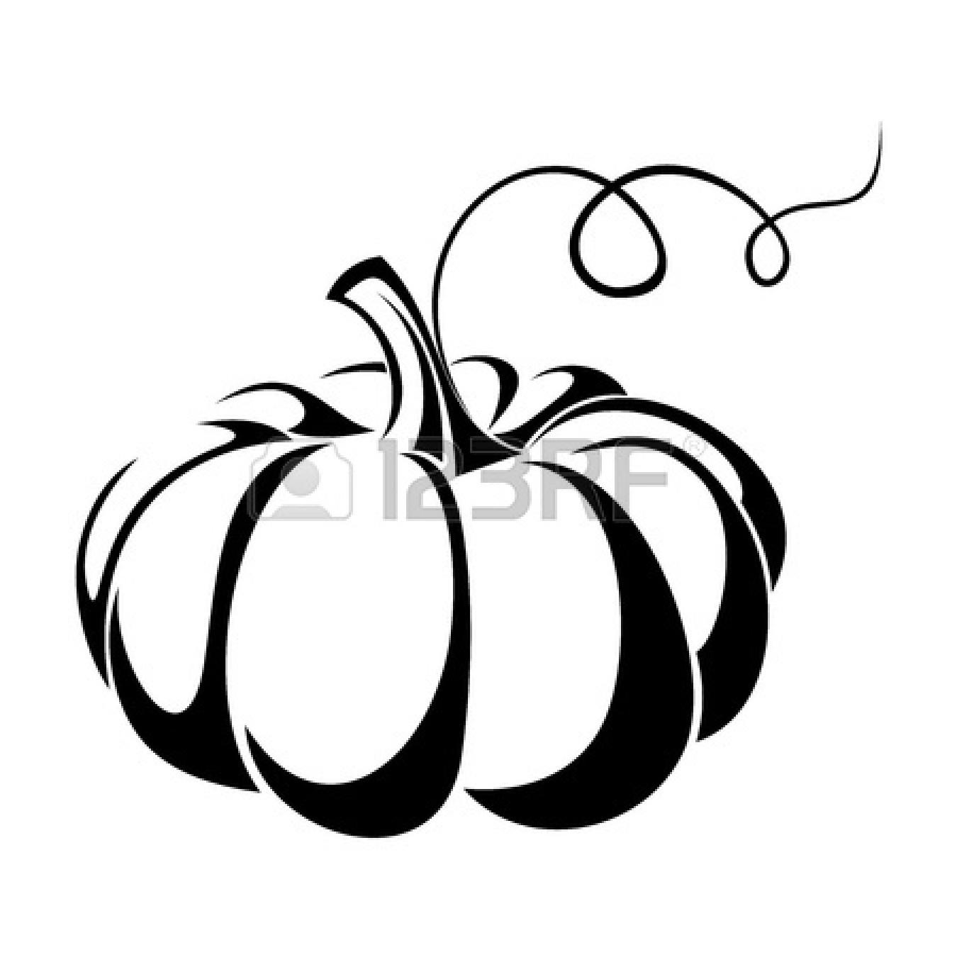1350x1350 Pumpkin Clipart Black And White