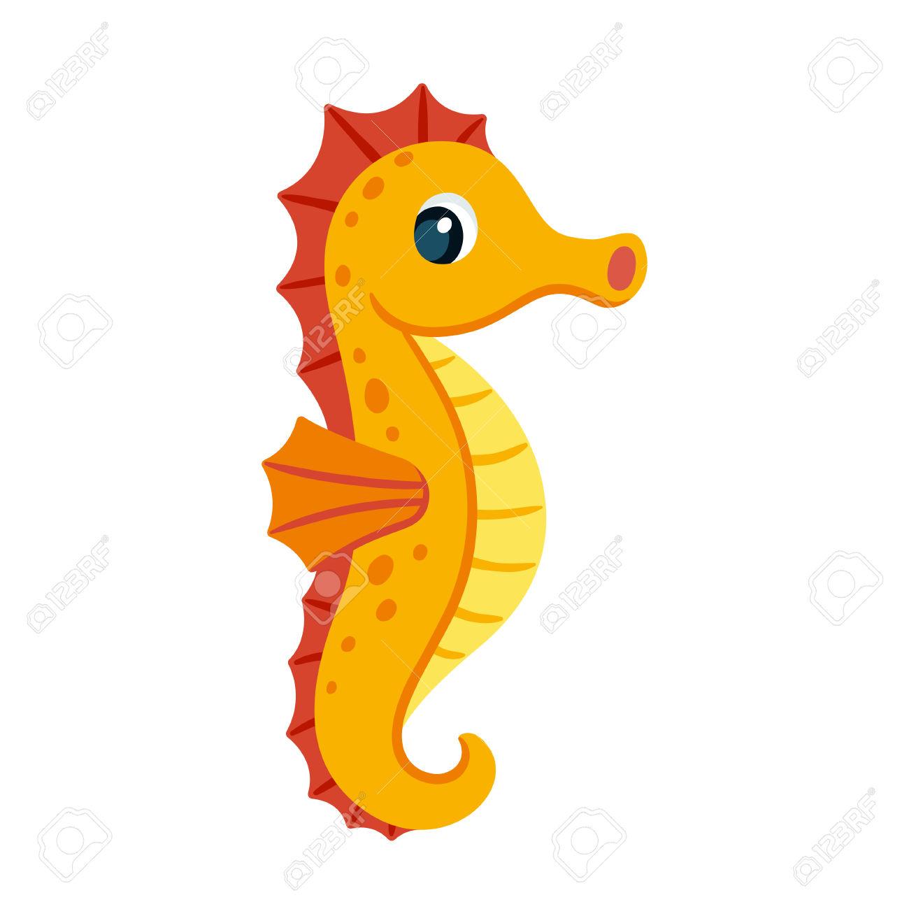 1300x1300 Orange Clipart Seahorse