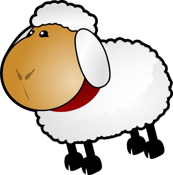 594x598 Sheep, Rotate 6 Clip Art