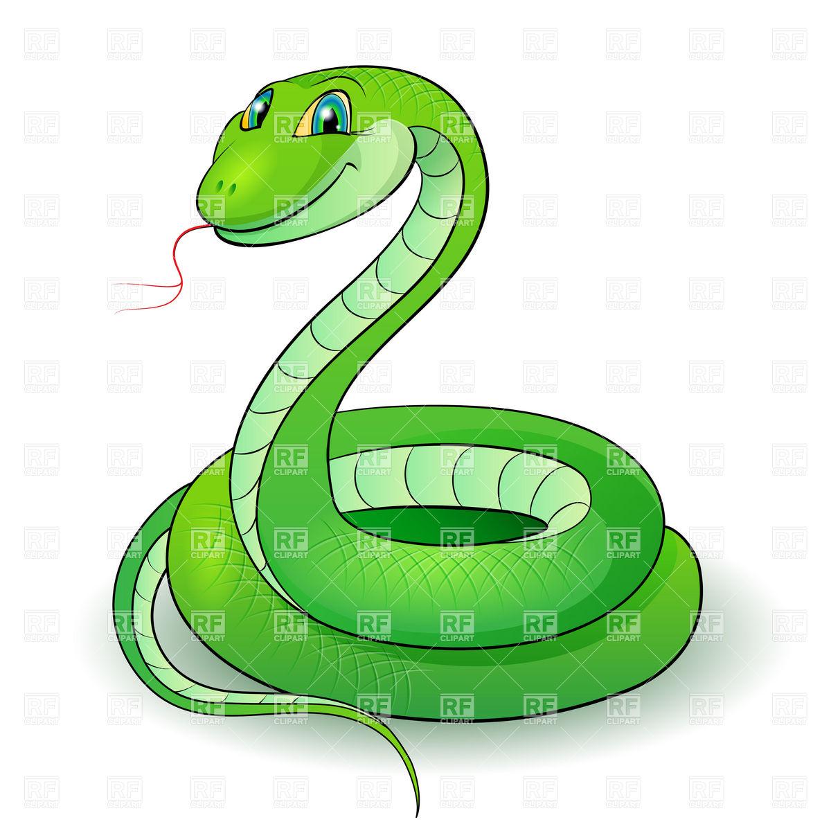 1200x1200 Cute cartoon green snake Royalty Free Vector Clip Art Image