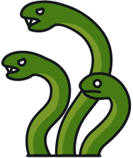 188x224 Snakes Clipart