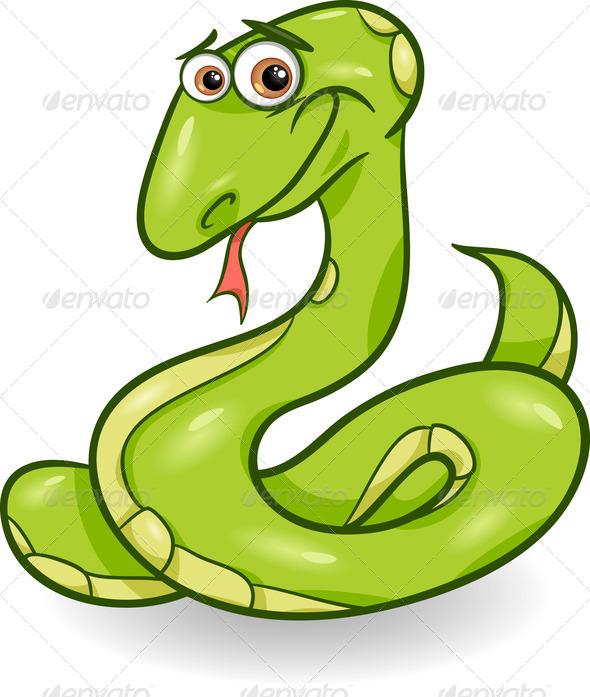 590x697 cute snake cartoon illustration animal, cartoon, character
