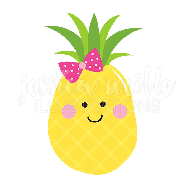 600x600 Pineapple Cutie Cute Digital Clipart Pineapple Clip Art