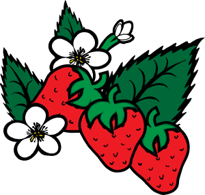300x285 Strawberries Clip Art