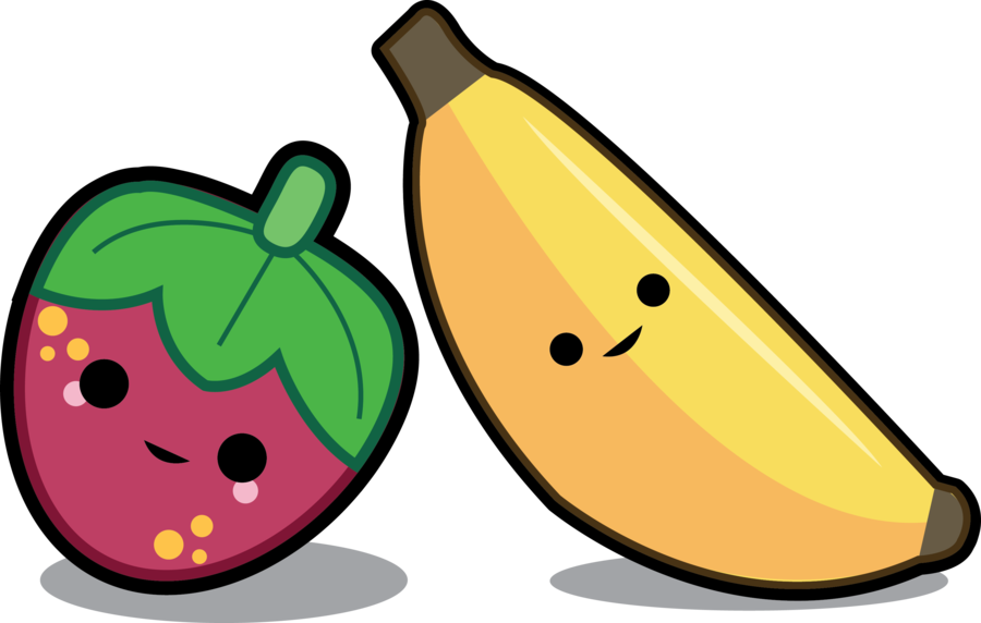 900x572 Strawberry Banana Clipart