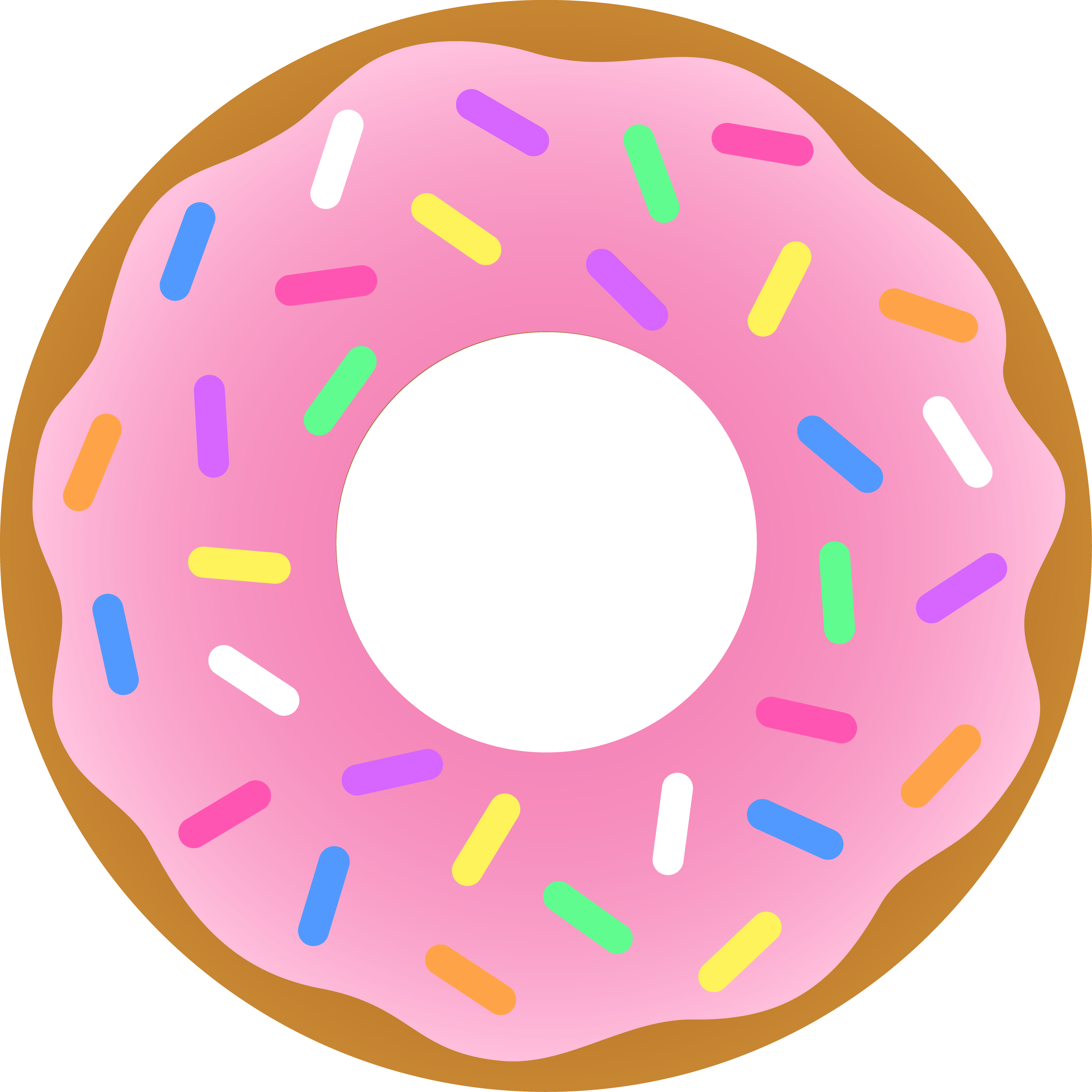 4187x4187 Strawberry Donut With Sprinkles