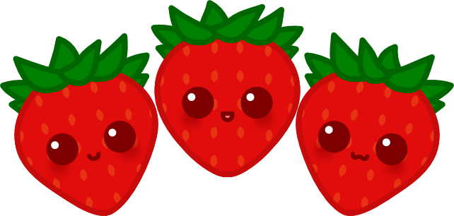 642x306 Strawberry Clipart Kawaii