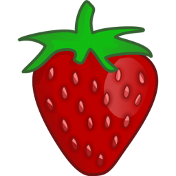 256x256 Cartoon Strawberry Clip Art Cliparts