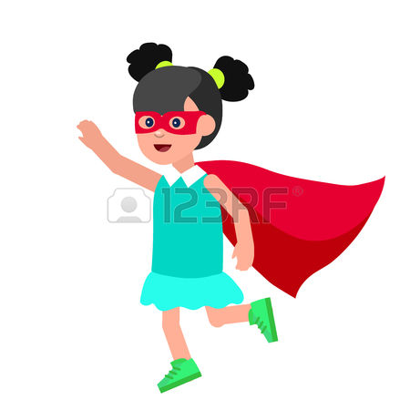 450x450 Generic Super Boy And Super Girl Clipart