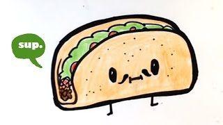 320x180 How To Draw Cartoon Tacos Cute Step By Step Easy Cute Cartoon Food