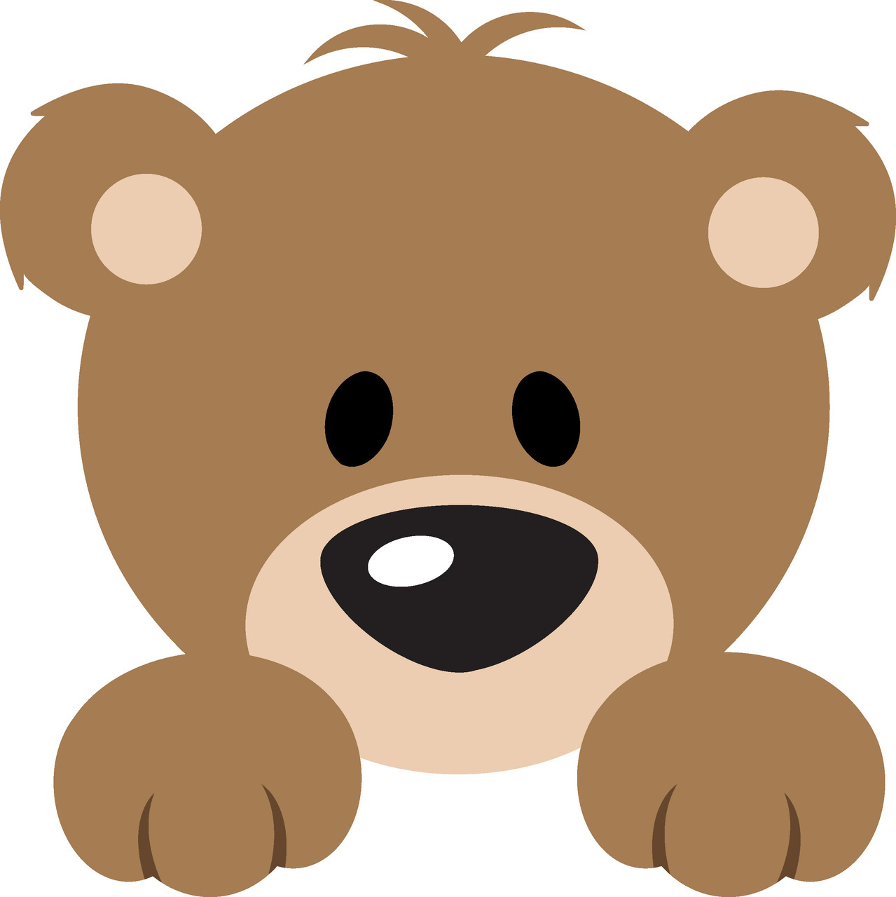 1279x1280 Cute Bear April Clipart