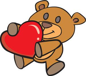 300x267 Cute Bear Valentine Clipart
