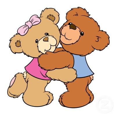 400x400 Kissing Clipart Cute Teddy Bear