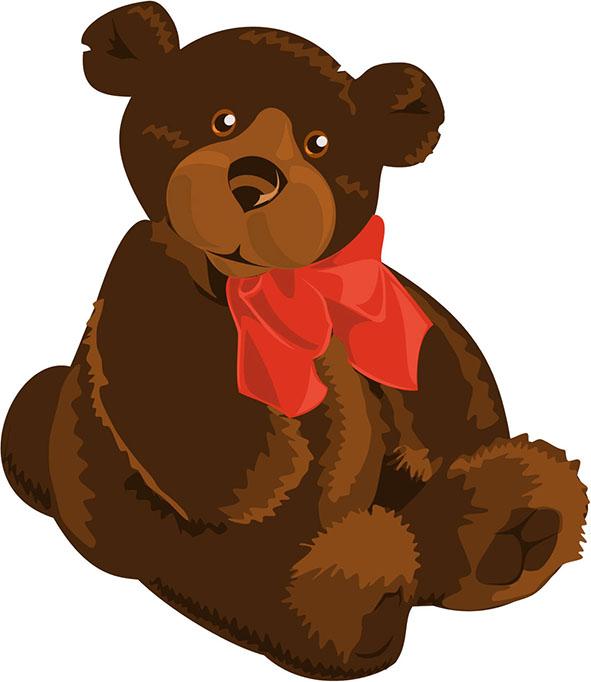 591x682 Teddy Bear Outline Clip Art