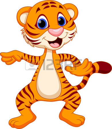 390x450 Cute Tiger Cartoon Sitting Royalty Free Cliparts, Vectors, And