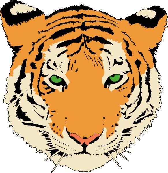 582x597 Cute Tiger Face Clip Art