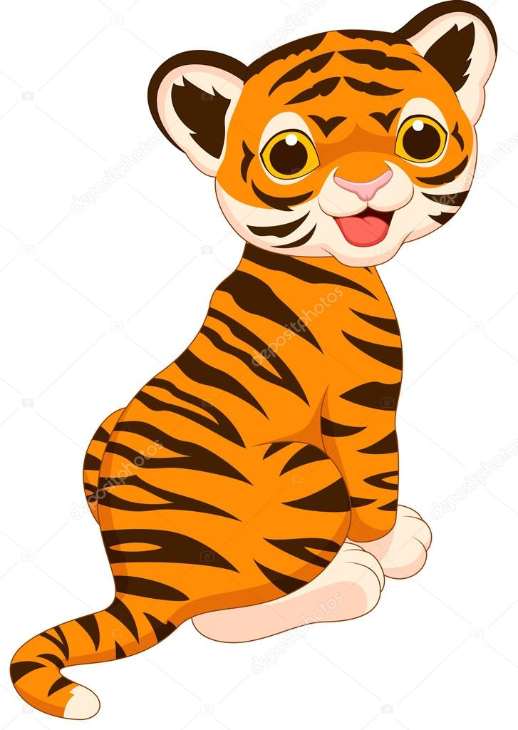 727x1024 Baby Tiger Clipart