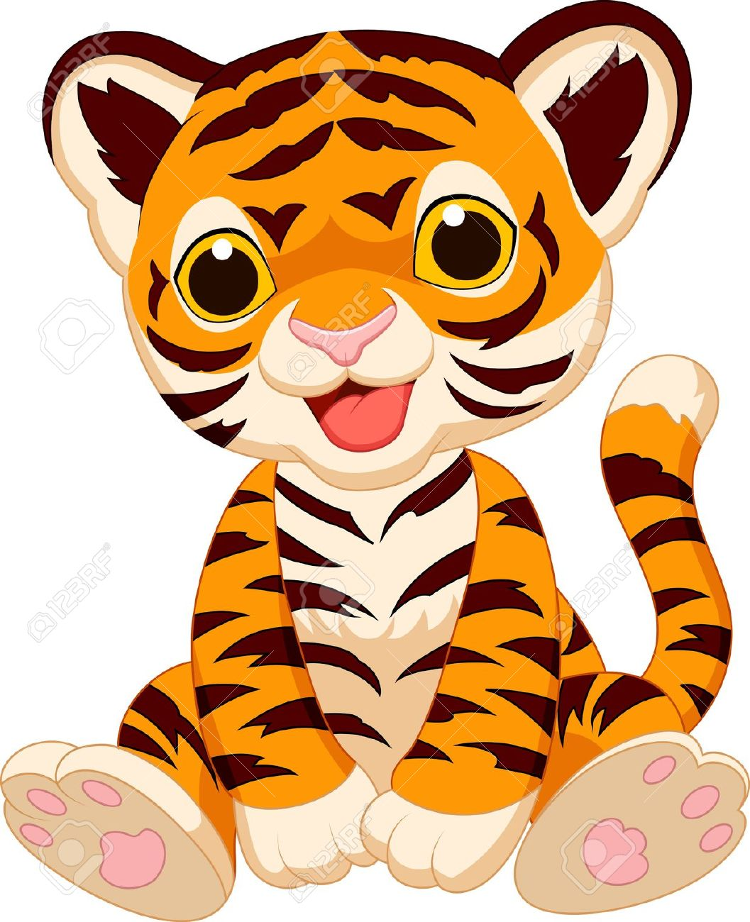 1057x1300 Cute Clipart Baby Tiger