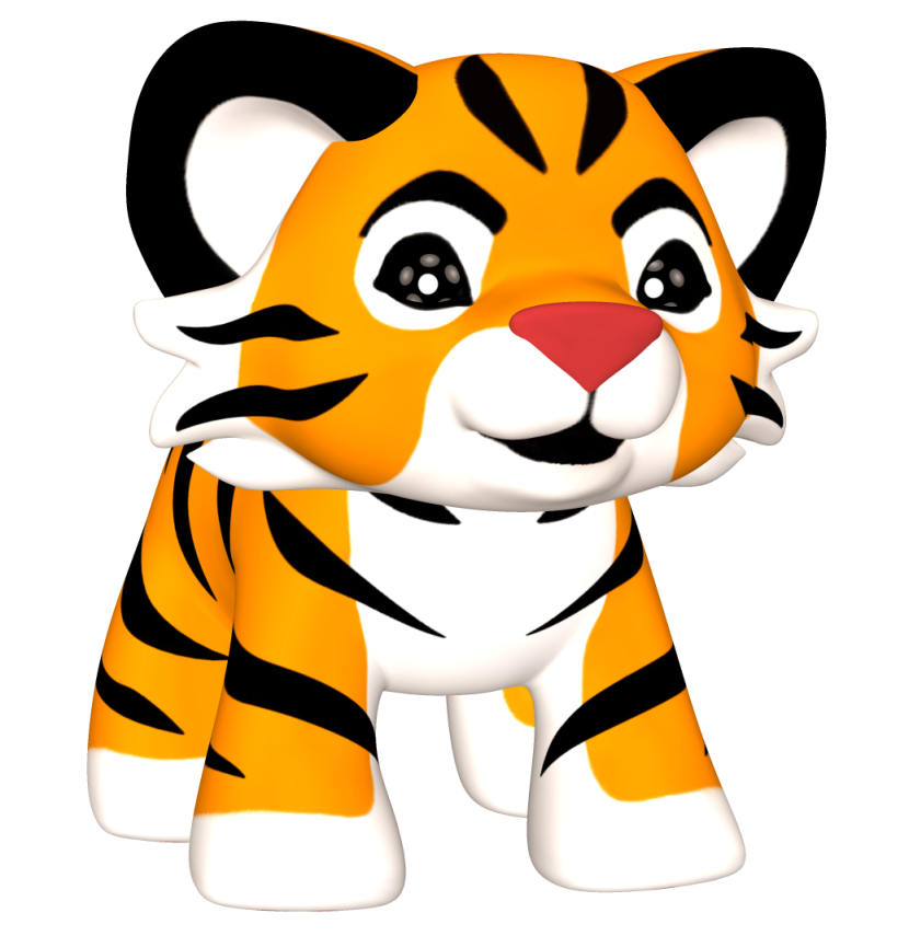 830x855 Tiger clipart baby tiger