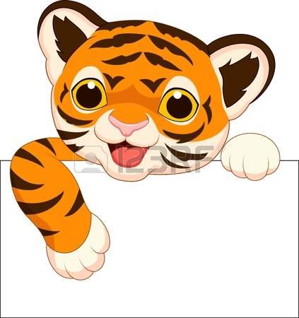 423x450 Tiger clipart cute