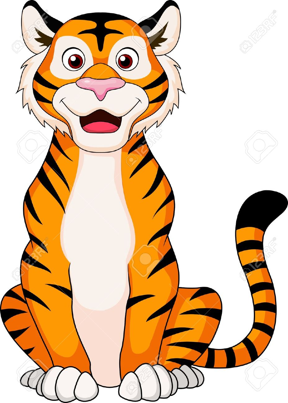 928x1300 Tiger clipart cute pencil and in color tiger