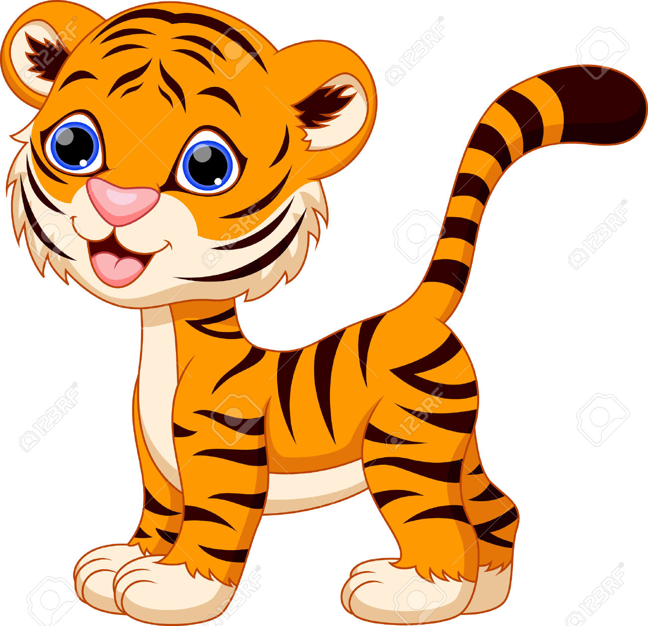1300x1254 Tiger clipart silly