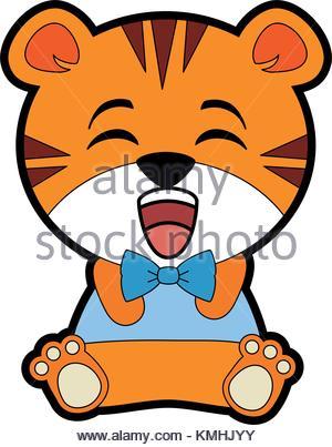 300x403 cute tiger character kawaii style Stock Vector Art amp Illustration