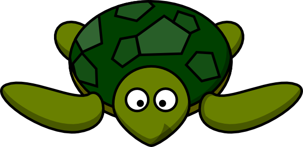 600x291 Cute Green Turtle Clip Art
