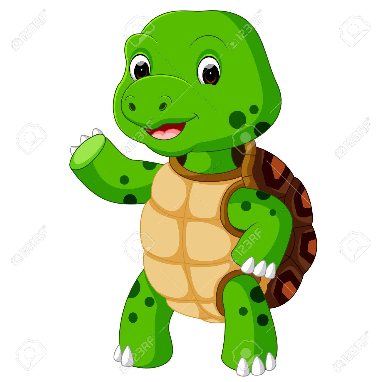 1300x1300 Cute Turtle Cartoon Stock Photo, Picture And Royalty Free Image