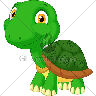 325x325 Vector Cartoon Of A Tortoise Walking · GL Stock Images
