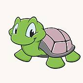 170x170 Clip Art of Cute Turtle k16735876