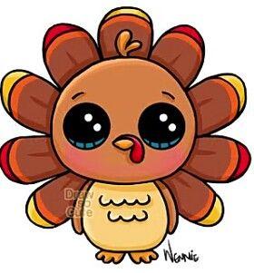 Cute Cartoon Turkeys