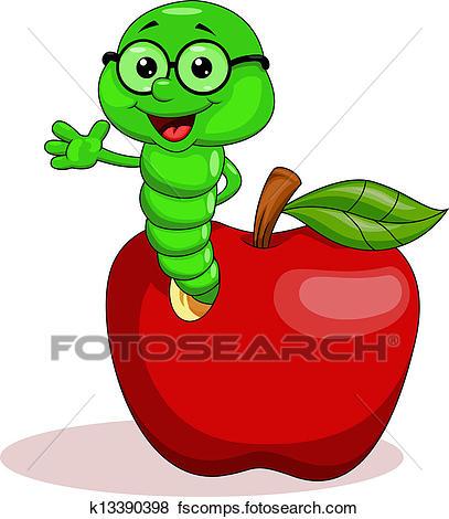 407x470 Clip Art Of Cute Caterpillar Cartoon K15822367