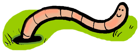 467x175 Colorful clipart worm