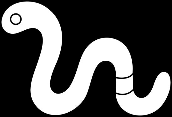 550x374 Cute Worm Line Art