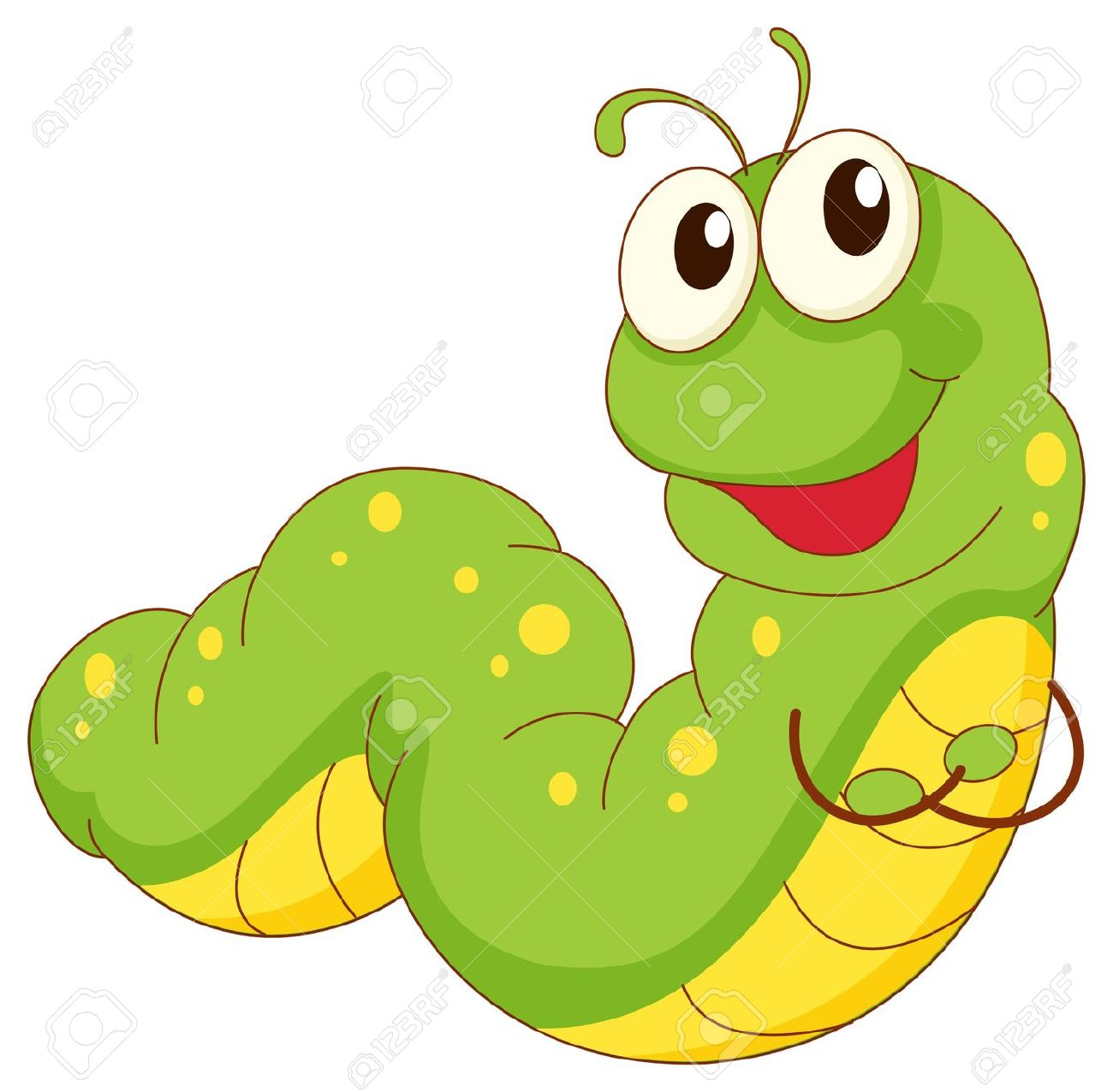1300x1276 Green worm clipart