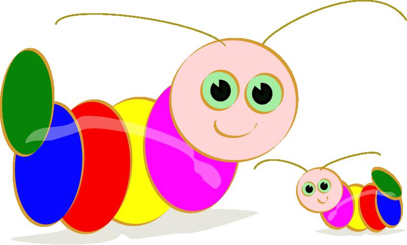 800x483 Worm clipart baby caterpillar