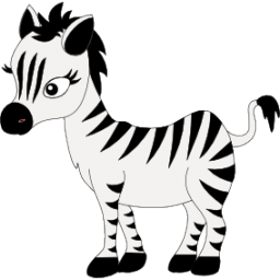 256x256 Baby Zebra Icon, Png Clipart Image