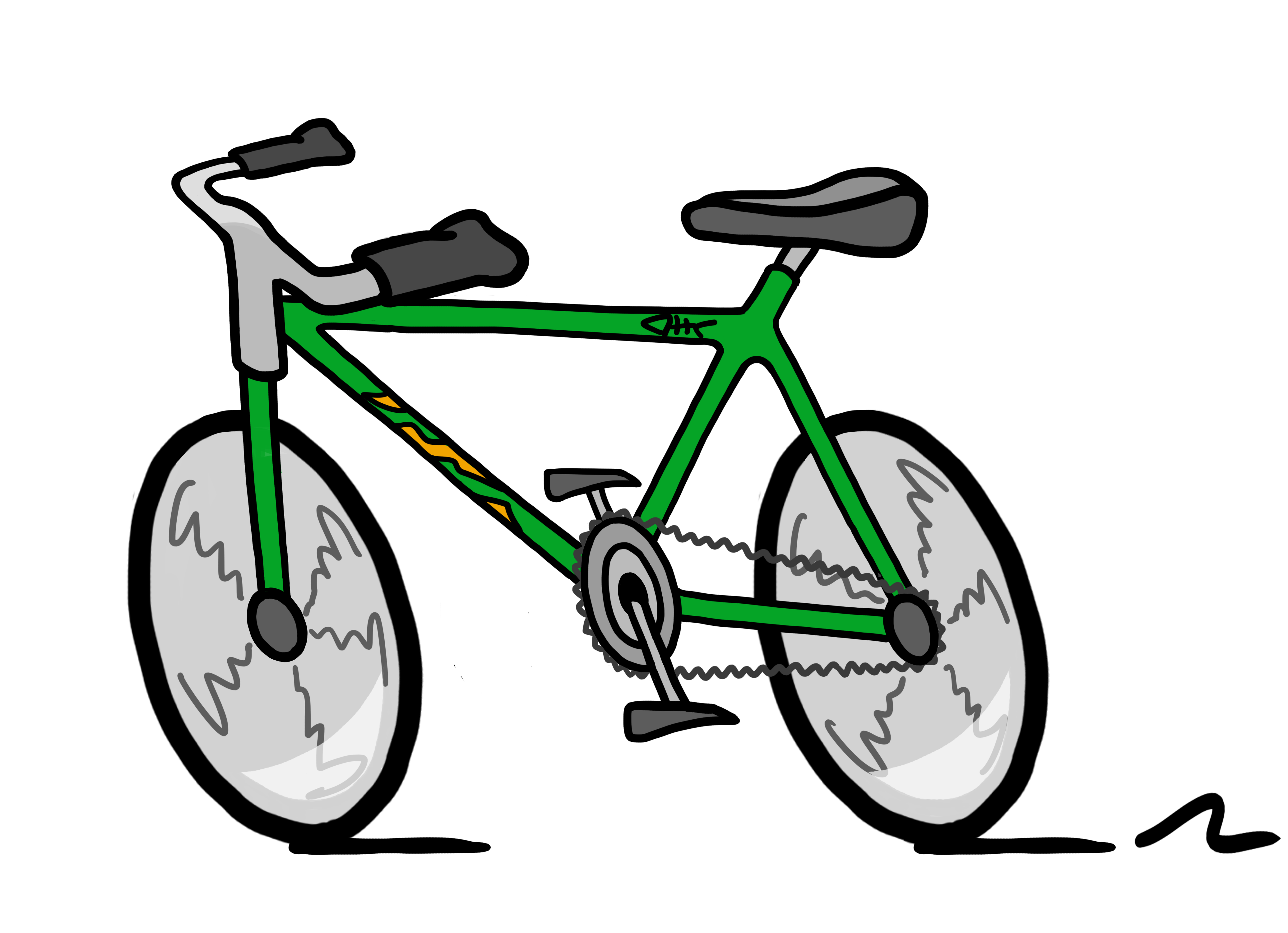 4142x3000 Bicycle Clipart Basket Clip Art