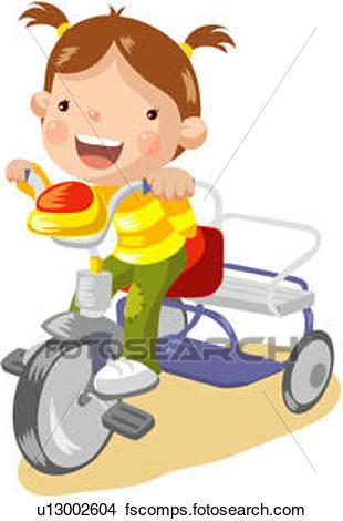 310x470 Clipart Of Cycle, Three, Bike, Wheel, Women U13002604